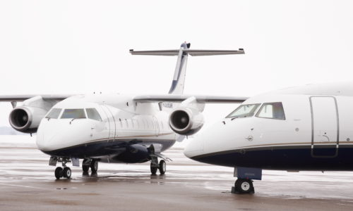 two dornier aircraft outside on hangar ramp