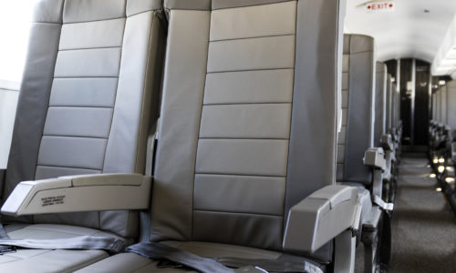 new united goderich - airplane aisle of seats