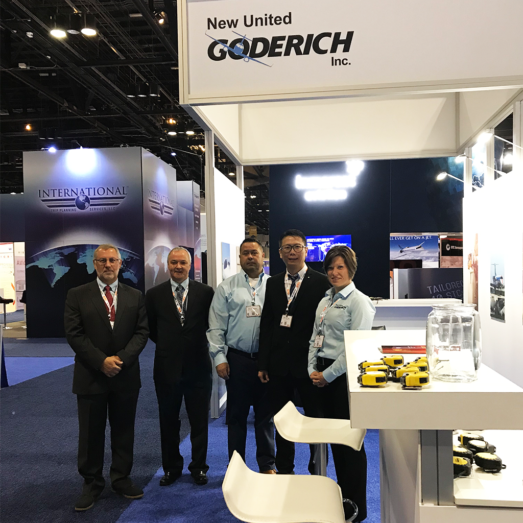 new united goderich team at nbaa convention booth