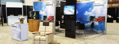new united goderich booth at the 2017 nbaa bace convention and trade show