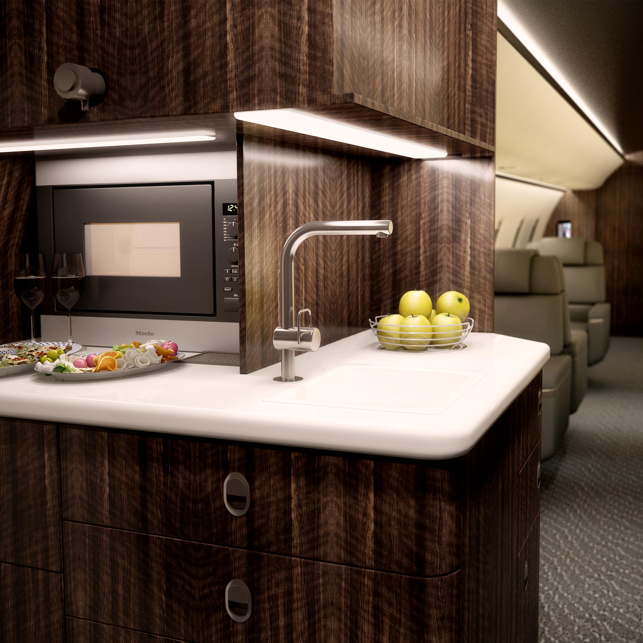 aircraft interior trend modern galleys