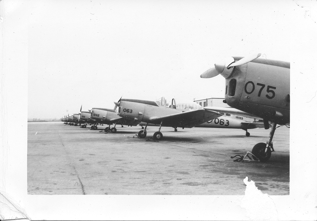 DHC Chipmunks on the flight line at Centralia in 1963